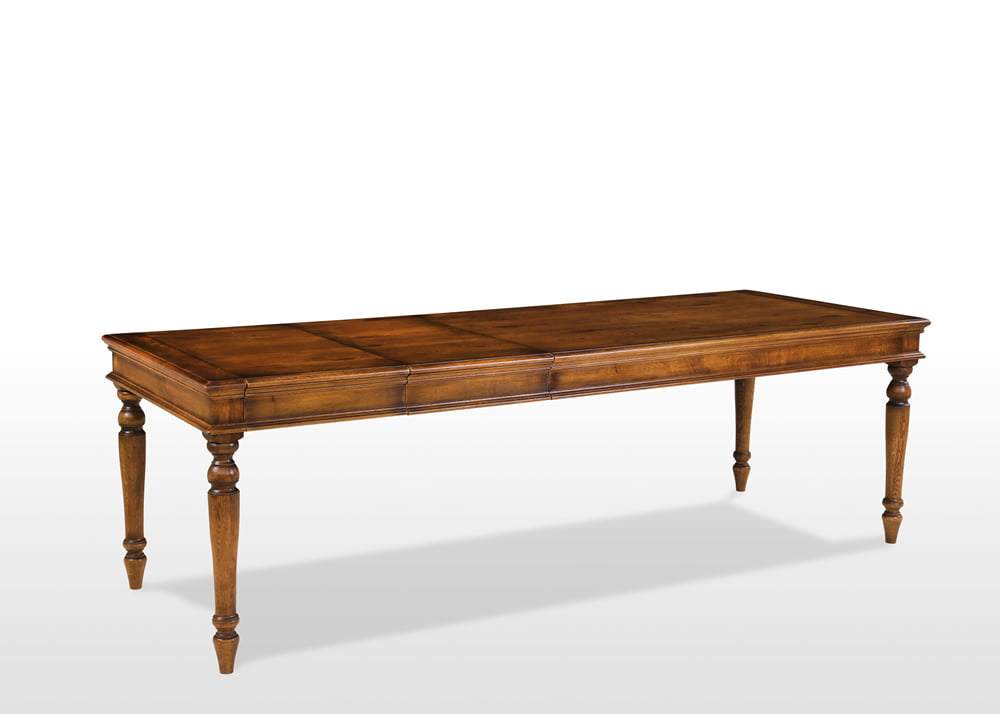 Old Charm Rochford Dining Table In Light Oak Heritage Head On Image