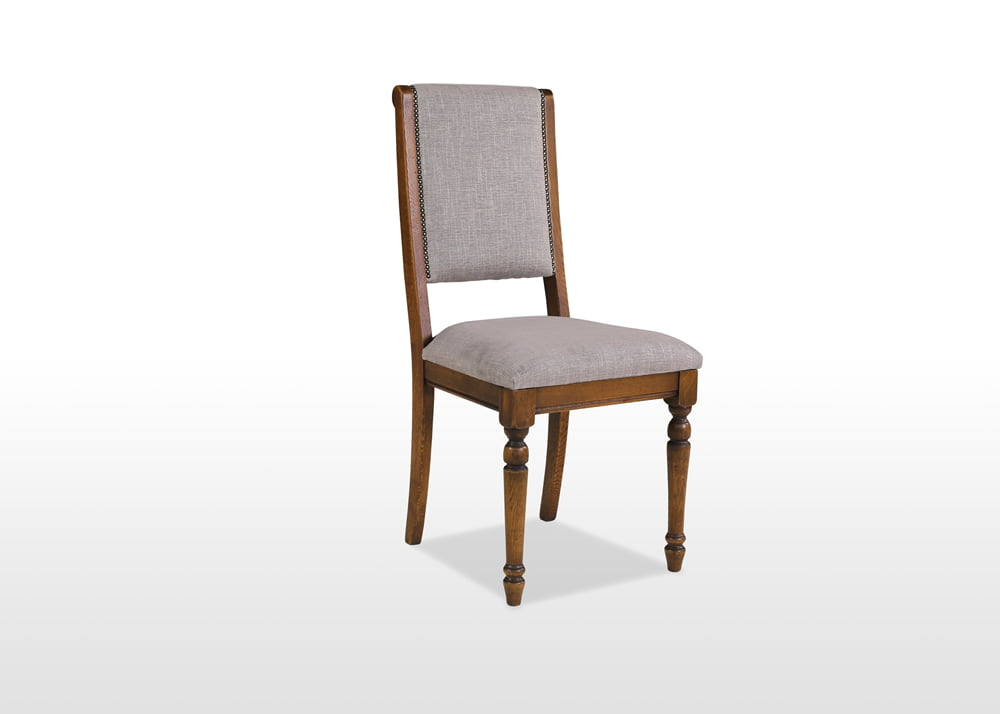 Old Charm Dining Chair in Light Oak Heritage head on image