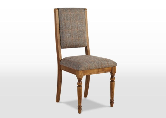 Rochford dining chair, harris tweed dining chair, tweed dining chair