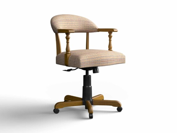 Designer Chair Gallery Captains Chair in Baxter with Light Oak legs