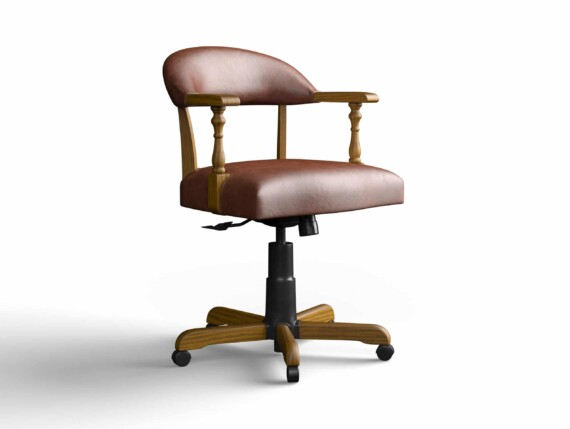 Designer Chair Gallery Captains Chair in Tuscany Tan with Light Oak legs