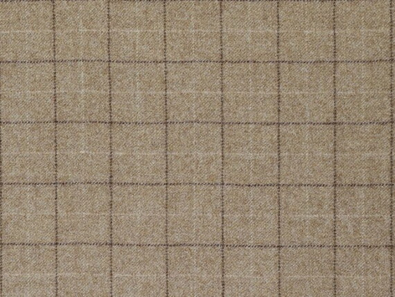 Oatmeal Check fabric