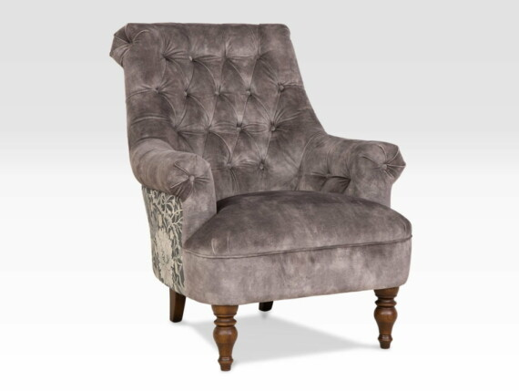 Pickering designer armchair, grey designer chair