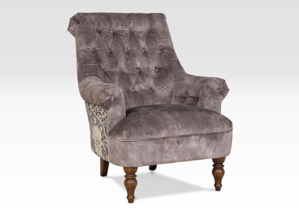 Pickering Designer Armchair, Grey Designer Chair