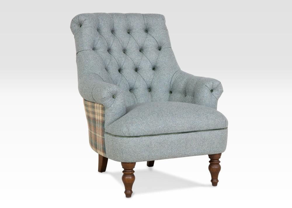Pickering Designer Armchair, Teal Designers Chair