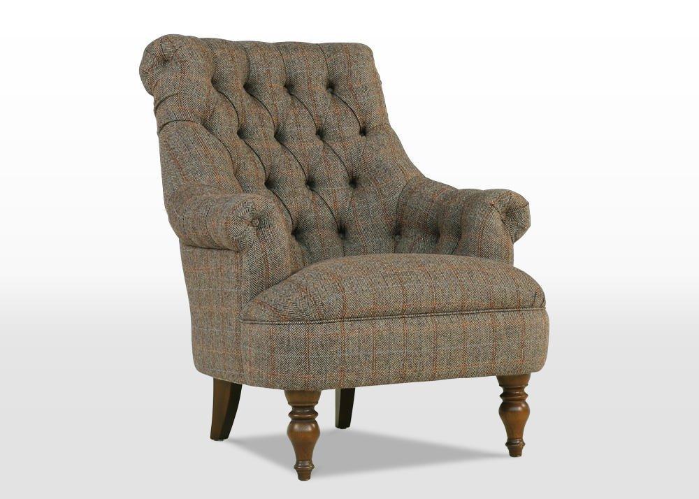 pickering, armchair, Herringbone Moss, angle
