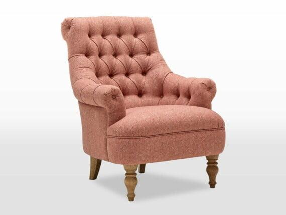 abraham moon armchairs, pickering, armchair, tweet coral, angle, abraham moon armchair, love wool