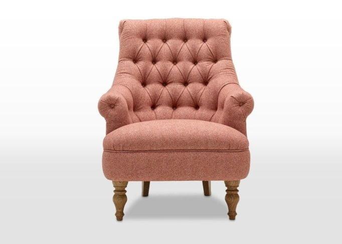 pickering, armchair, tweet coral, head on