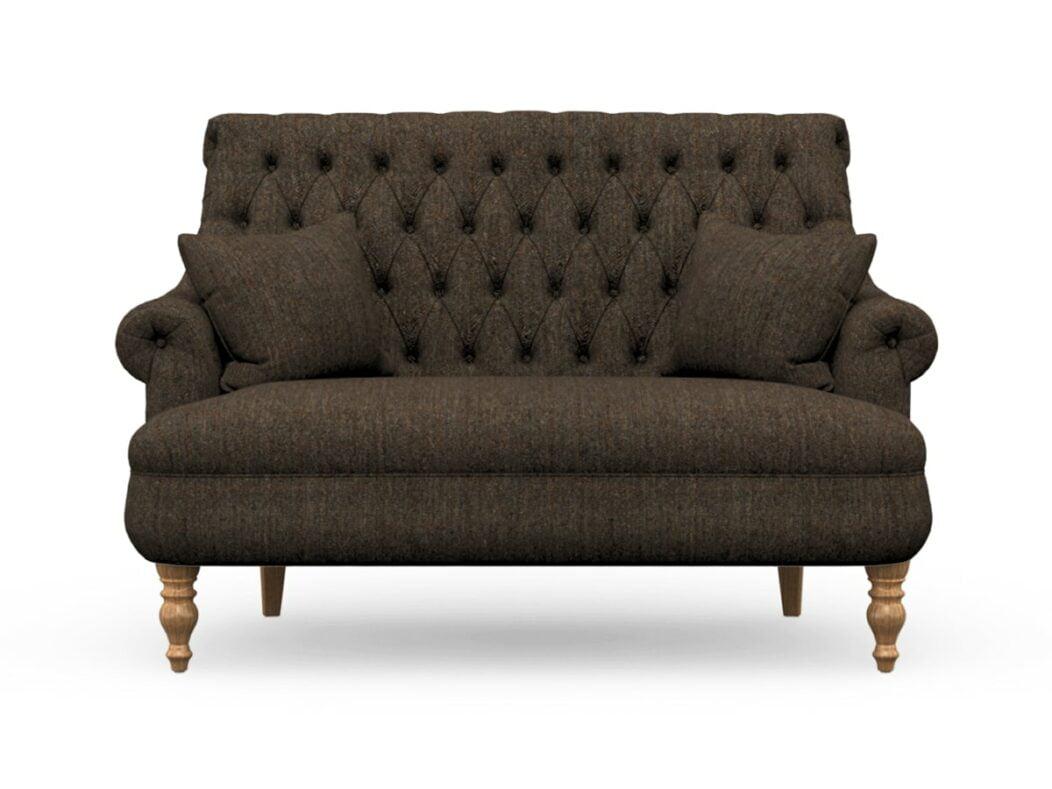 Harris Tweed Herringbone Forest, Pickering Compact Sofa In Harris Tweed
