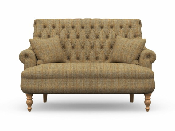 Harris Tweed Herringbone Moss, Pickering Compact Sofa in Harris Tweed