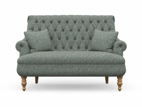 Harris Tweed Herringbone Slate, Pickering Compact Sofa in Harris Tweed