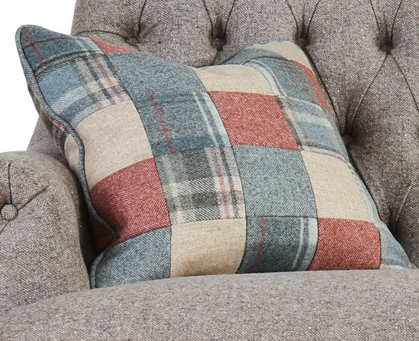 patchwork design, patchwork cushion, mint patchwork cushion