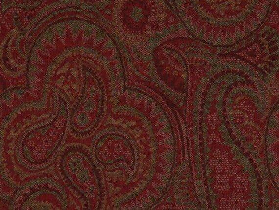 paisley claret fabric