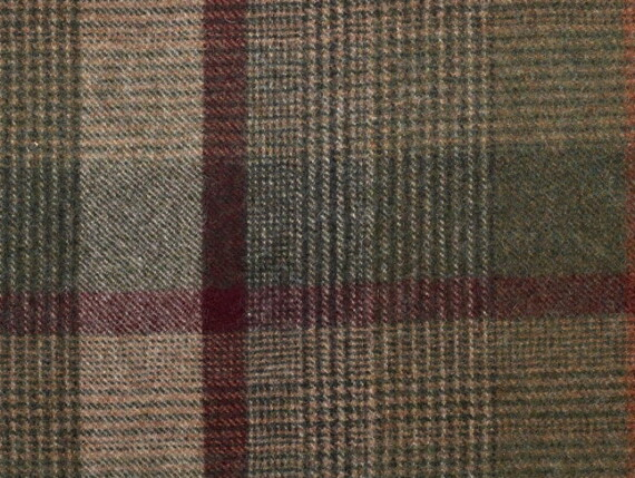 Plaid Multi Moon Furnishing pure wool fabric