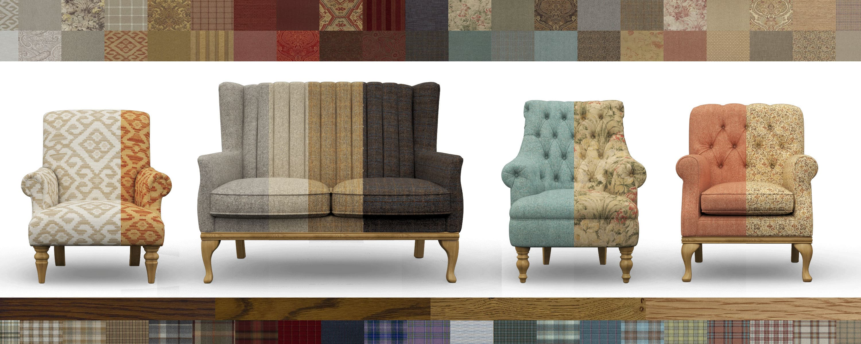 configurate your own armchair, design your own chair, customise your sofa, product configurator, product customisation,moon upholstery fabric