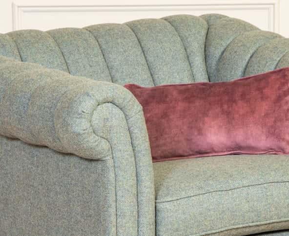 Rushden Armchair Comfort, Channel Back Armchair