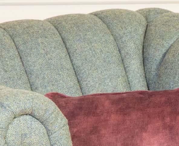 Rushden Armchair Design, Channel Back Armchair