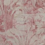 Raphaella Carmine fabric, flower fabric