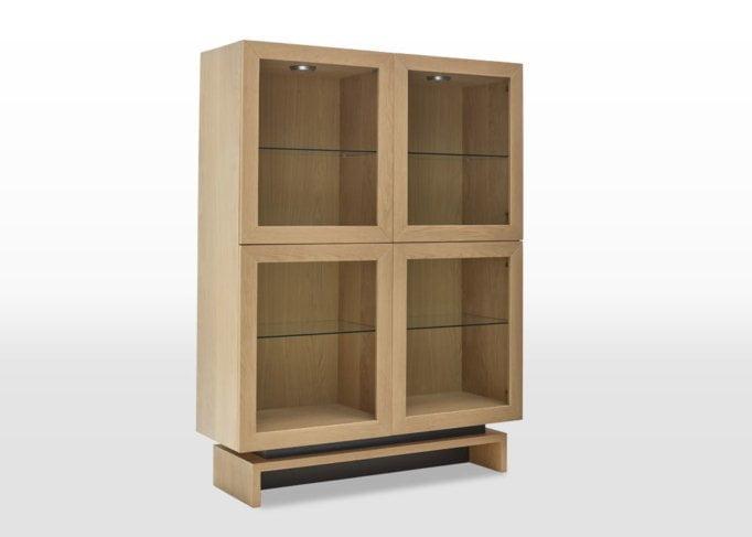 oskar display cabinet angled