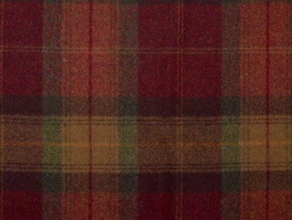 Tartan Crimson Moon Furnishing pure wool fabric