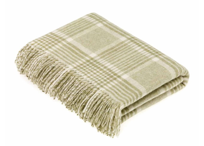 prince of wales check sage, wool throw, sage throw, campaign for wool