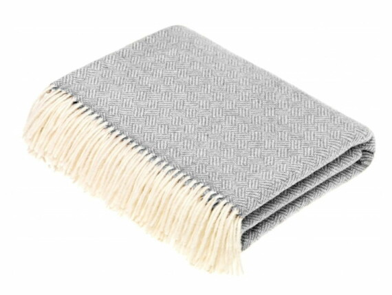 parquet grey throw, woolly blanket