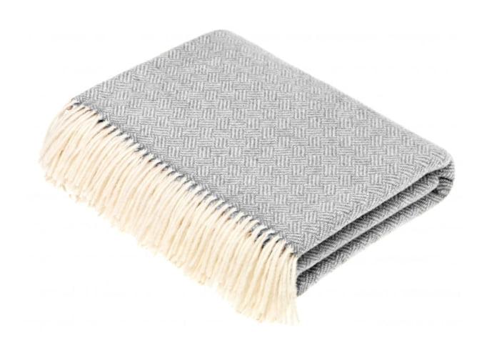 parquet grey throw, woolly blanket