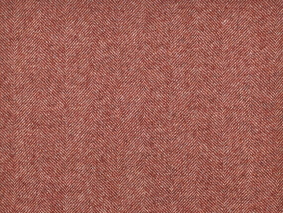 Tweed Coral Moon Furnishing pure wool fabric