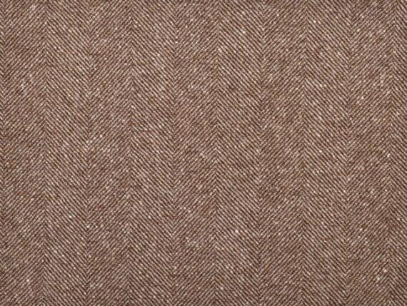 Twill camel Moon Furnishings, pure wool fabric, moon wool fabric, herringbone upholstery fabric, brown herringbone