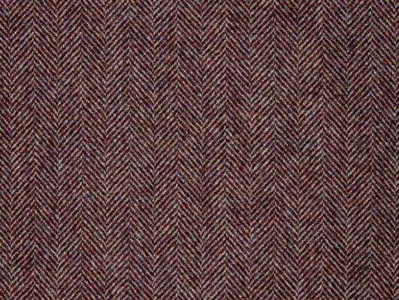 herringbone blackberry heather, herringbone blackberry wool, herringbone blackberry fabric