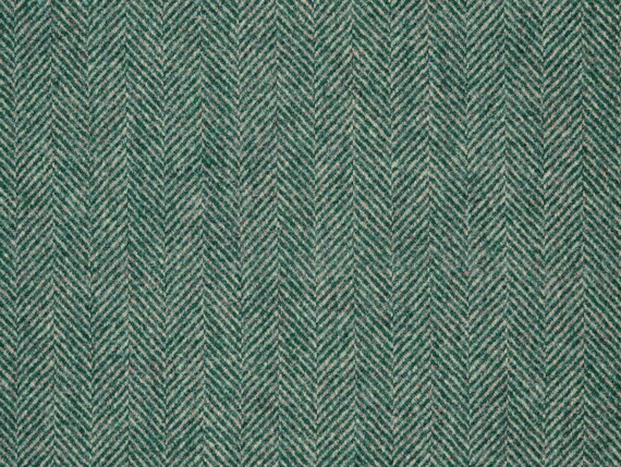 herringbone teal pine, herringbone teal wool, herringbone teal fabric