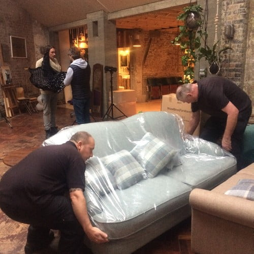 Photo Shoot Setup - Moving Sofas