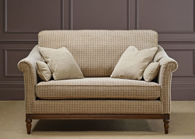 Wood Bros Medium/2 Seater Sofas in Zanzibar Fabric Head On Image