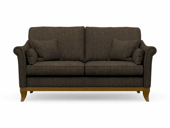 Harris Tweed Weybourne Medium Sofa in Herringbone Forest with Light Oak coloured legs