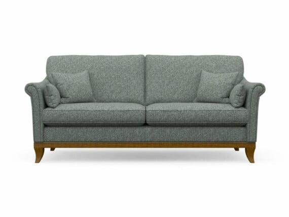 Harris Tweed Weybourne Large Sofa in Herringbone Slate with Light Oak coloured legs