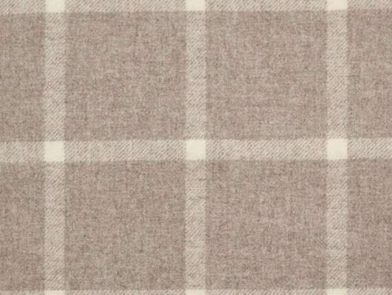 Windowpane crea Moon Furnishing pure wool fabric