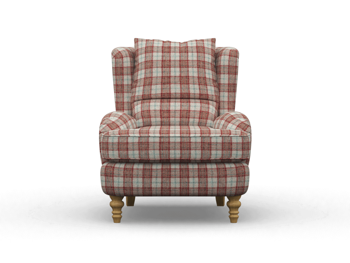 bayford armchair in montacute rouge, moon upholstery fabric