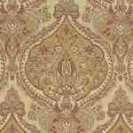 Benjamina Cloisters Parchment fabric, yellow pattern upholstery fabric