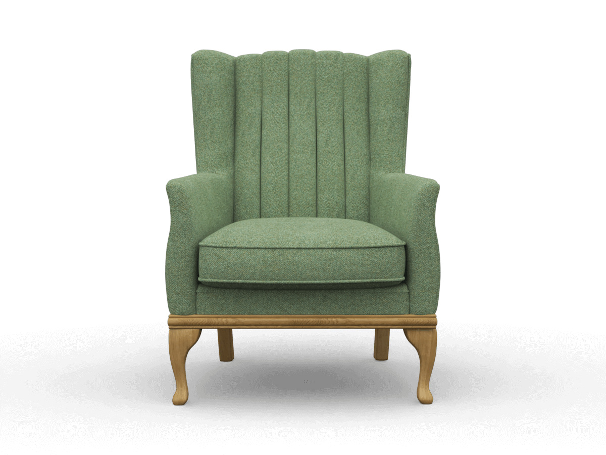 blakeney armchair in herringbone topaz, moon upholstery fabric