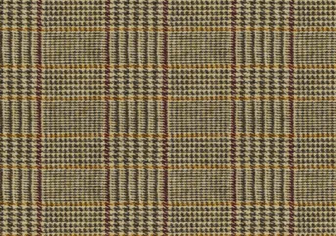 Dogtooth Bronze, Harris Tweed Upholstery Fabric, Beige Harris Tweed
