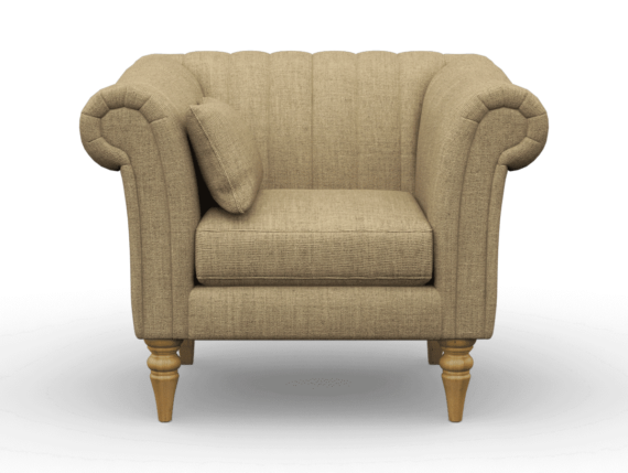 channel back armchair, finchley natural, designer channel chair