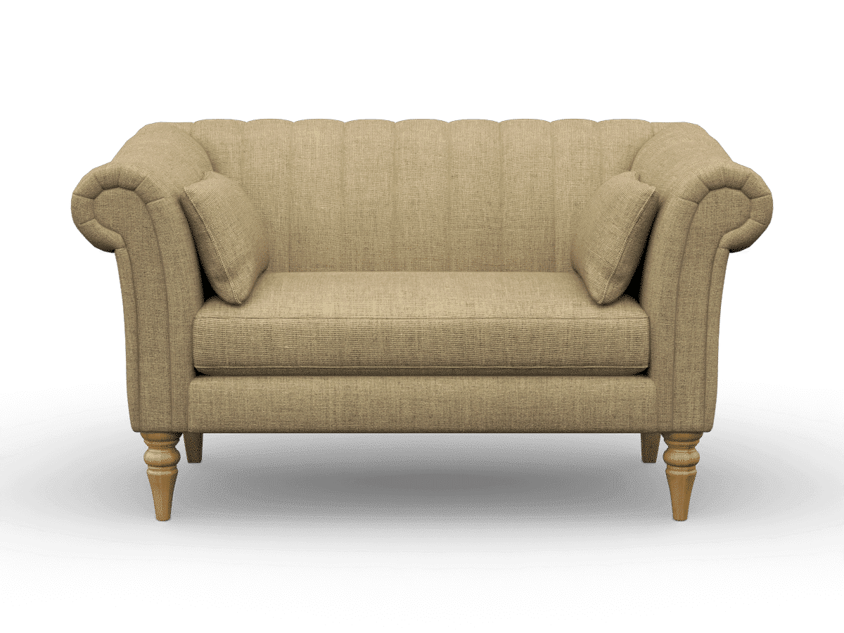 rushden compact sofa, loveseat, finchley natural
