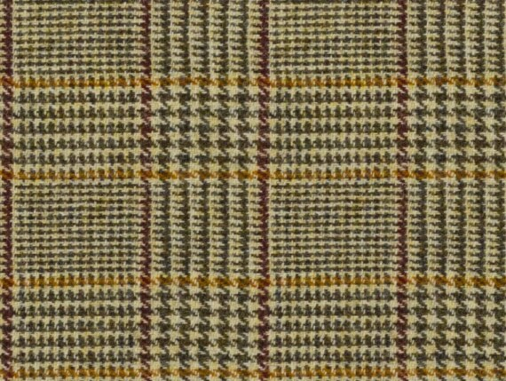 Harris Tweed Dogtooth Bronze in fabric by metre image