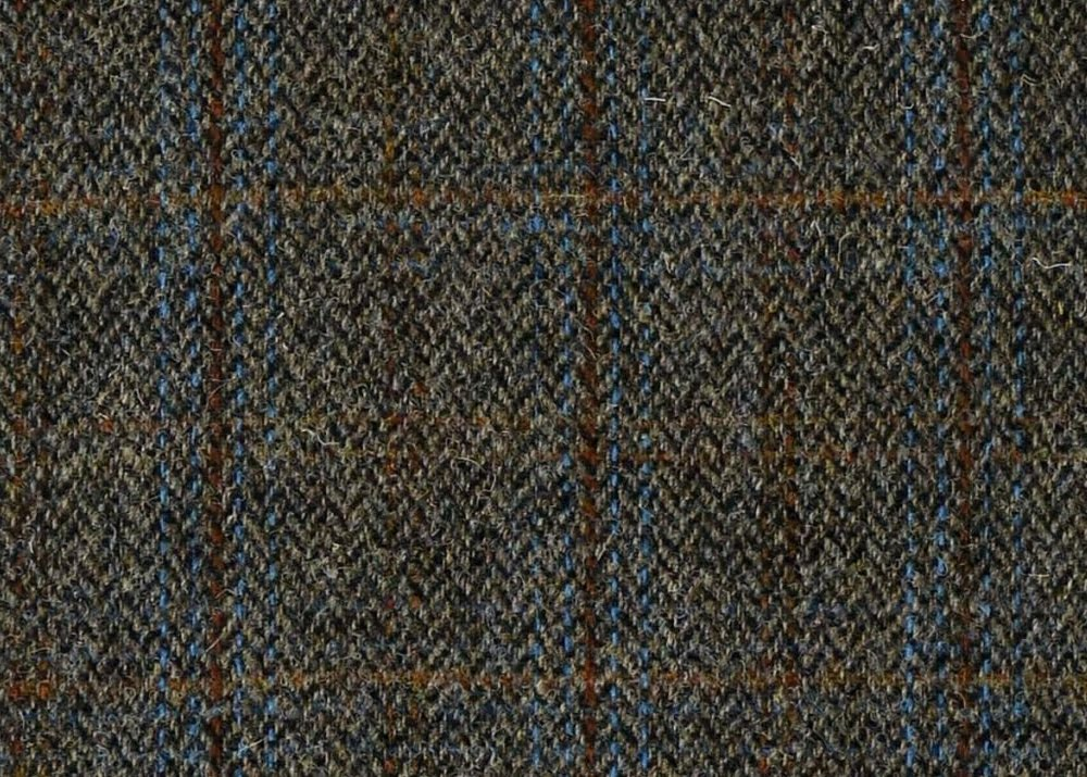 Harris Tweed Herringbone Charcoal in fabric by metre image