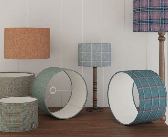 moon lampshades, wool lampshades