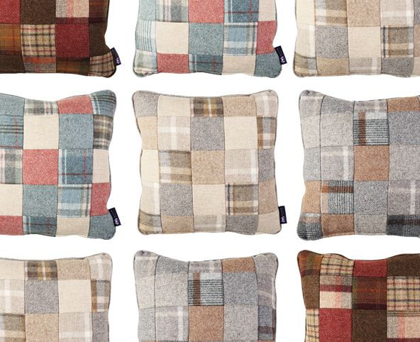 patchwork cushions, wood bros cushions, wool cushions