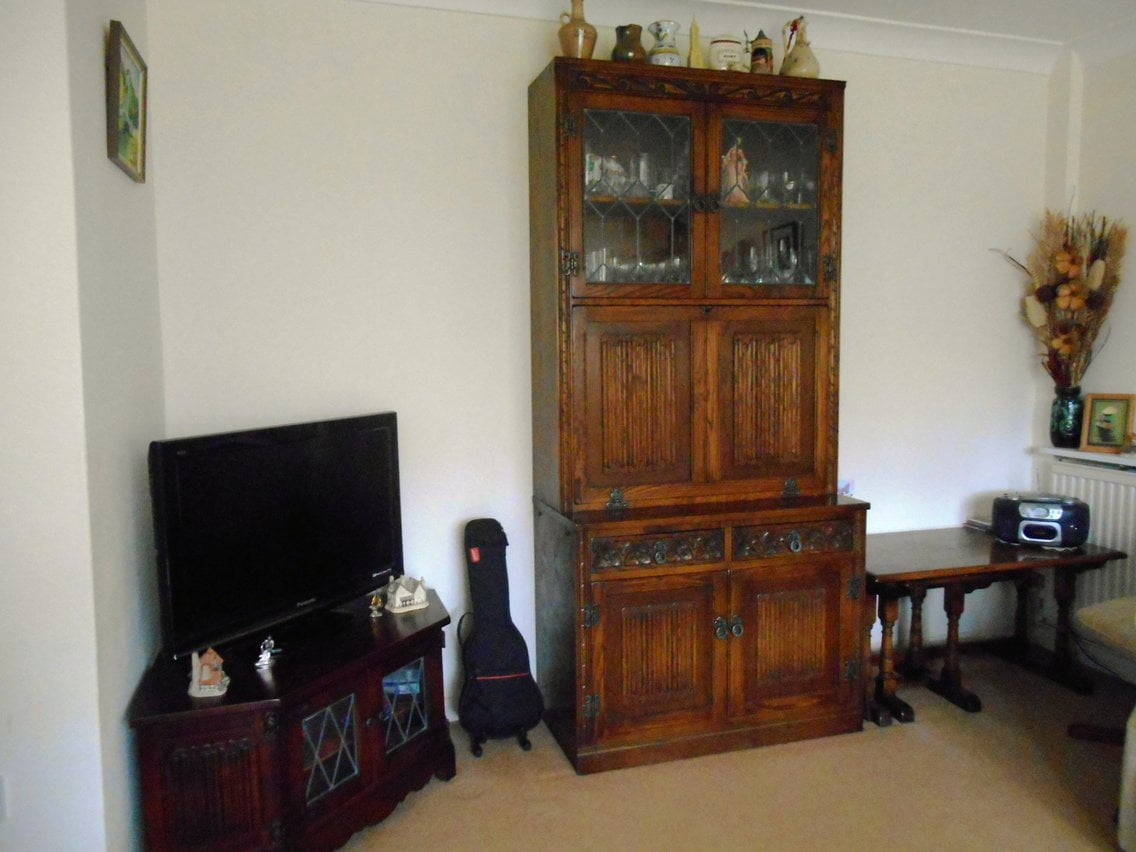 Customers Old Charm Cabinet & TV