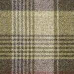 Tartan Grape upholstery fabric, green and purple wool upholstery fabric